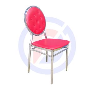 Ghế louis inox đệm đỏ